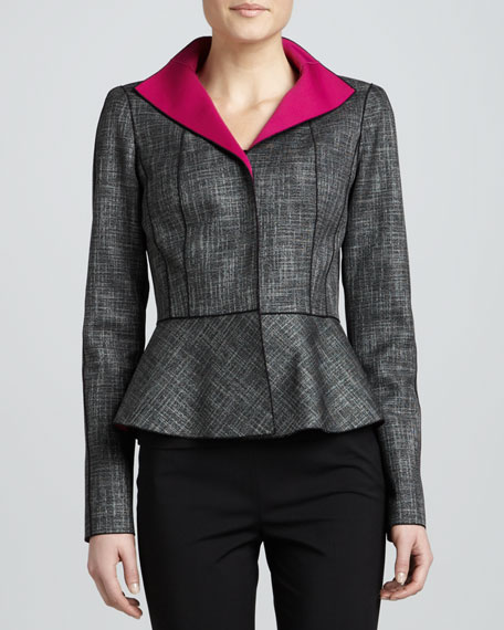 Amanda Convex Cloth Peplum Jacket