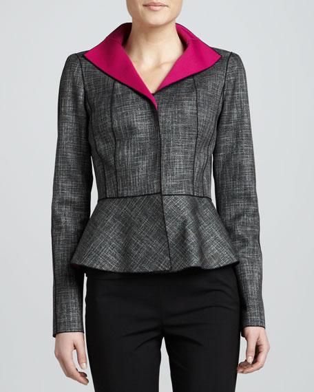 Amanda Convex Cloth Peplum Jacket