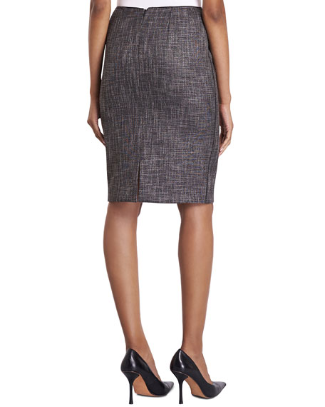 Revelin Convex Cloth Pencil Skirt