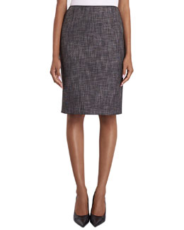 Lafayette 148 New York Revelin Convex Cloth Pencil Skirt
