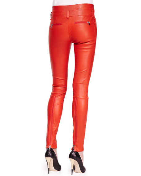 Bartlett Leather Skinny Pants