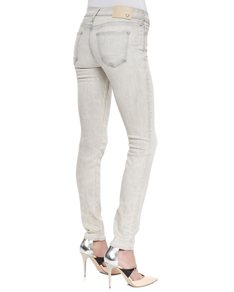 Abbey Copper Valley High-Rise Super-Skinny Jeans