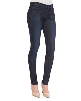 True Religion Halle Clean Mid-Rise Super-Skinny Jeans, Picasso Blues