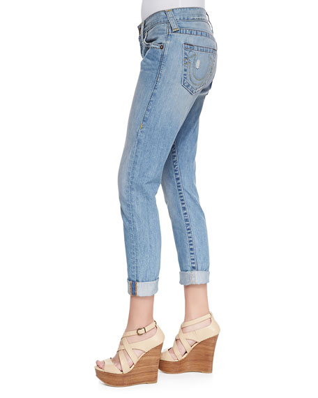 Brianna Silverlake Mid=Rise Boyfriend Jeans