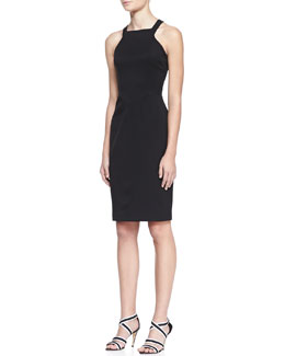 Black Halo Ajai Stretch Gabardine Dress