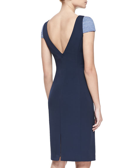 Adam Two-Tone Fitted Dress