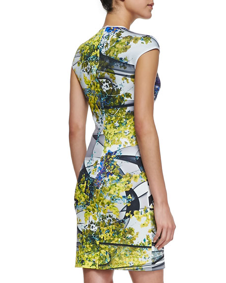 Space Garden Cap Sleeve Dress