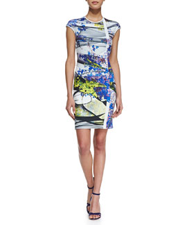 Clover Canyon Space Garden Cap Sleeve Dress