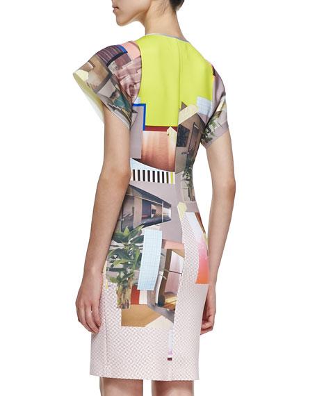 New Home Short-Sleeve Sheath Dress