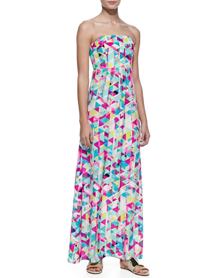 Gabriella Silk Printed Maxi Dress