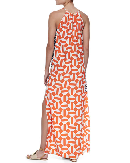 Tristan Silk Printed Maxi Dress