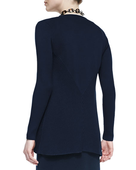 Silk Cotton Interlock Jacket, Midnight, Women's