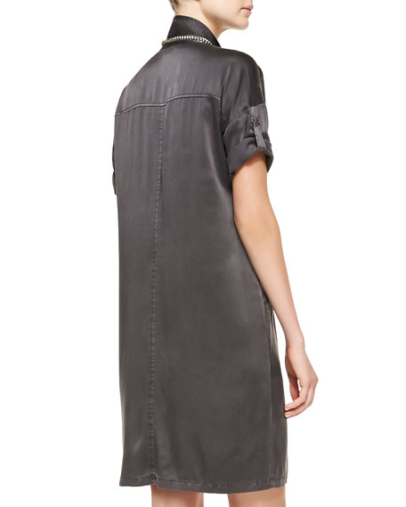 Washed Silk Shift Dress