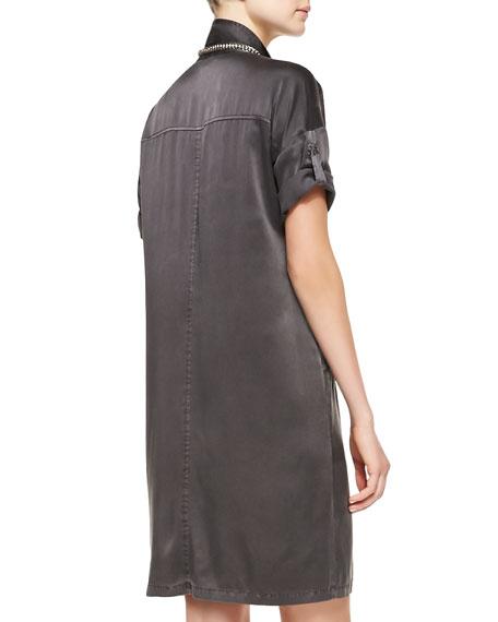 Washed Silk Shift Dress