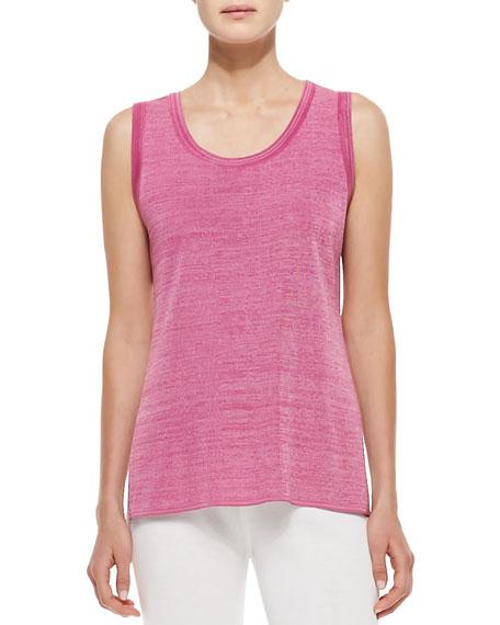 Melange Knit Tank, Pink Melange
