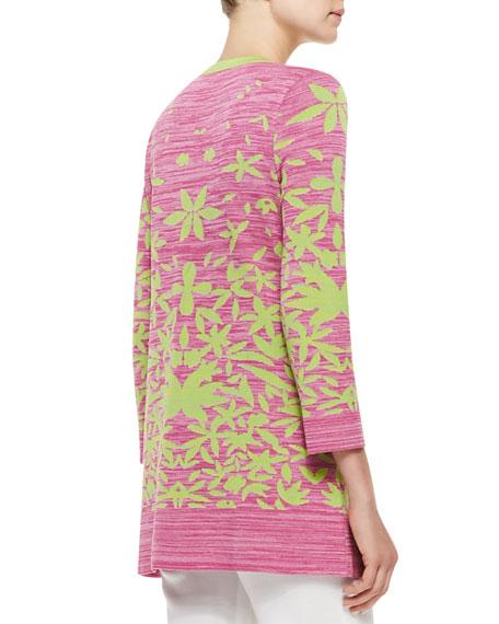 Multi-Leaf Long Jacket, Women's