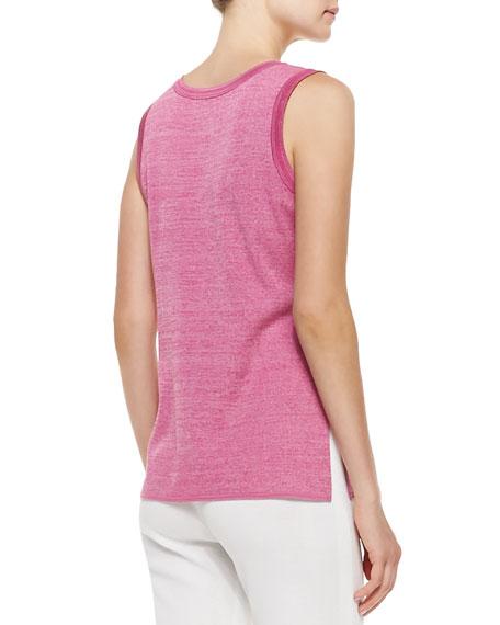 Melange Knit Tank, Pink, Women's