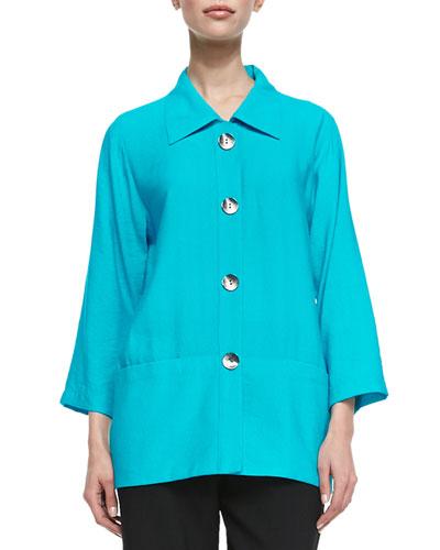 Caroline Rose Cabo Crinkle Shirt, Petite