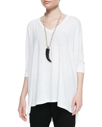 Eileen Fisher Linen V-Neck Boxy Tunic