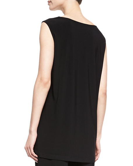Long Knit Tunic/Tank, Black