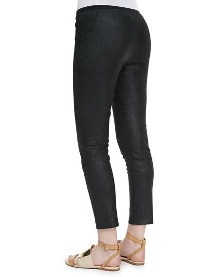 Pidasha Cropped Leather Leggings
