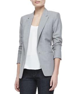 Theory Keto One-Button Long-Sleeve Jacket