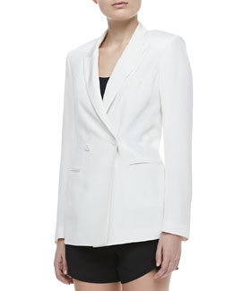 Theory Jannison Two-Button Double-Breasted Jacket