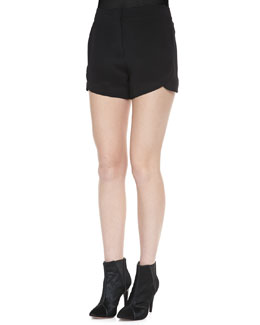 Theory Kaelin Silk Shorts