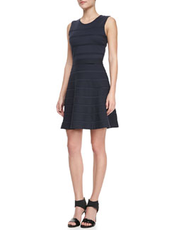 Theory Alaqua B Flared Ponte Dress
