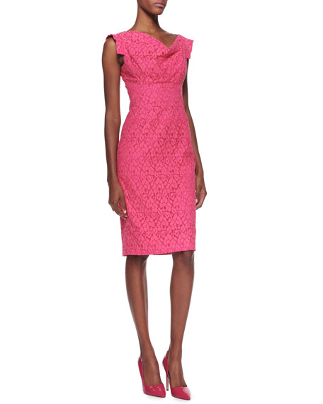 Jackie Lace Sheath Dress, Pink