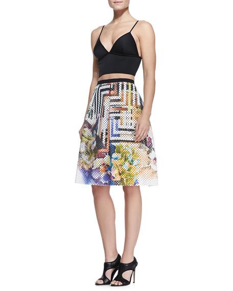 Laser-Cut Floral Maze Skirt