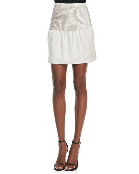 Pintucked Crepe Tulip Skirt