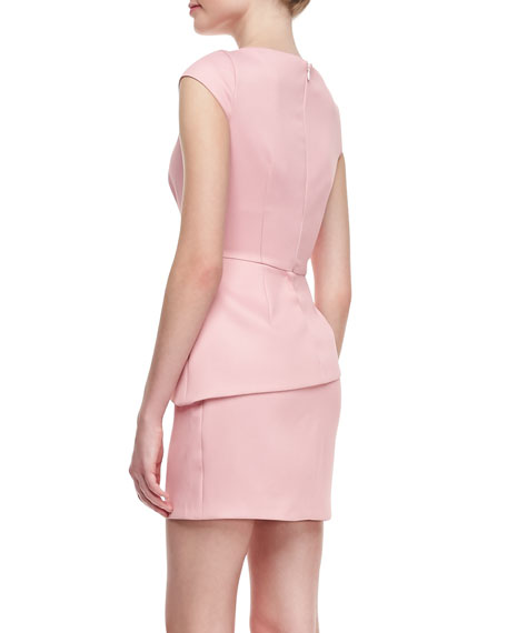 Cap-Sleeve Fitted Dress