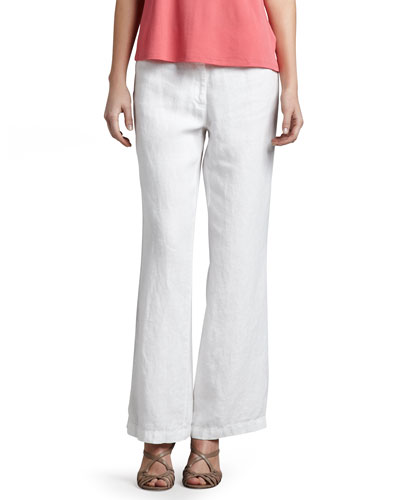 Eileen Fisher Heavy Linen Trousers
