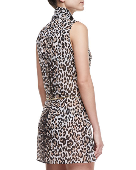 Luxe® Leopard-Print Coverup Dress
