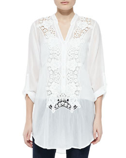 Johnny Was Collection Rose Trail Embroidered Blouse