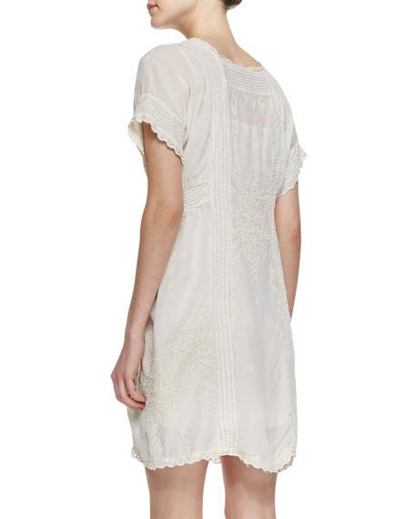Victorian Pintucked Georgette Dress