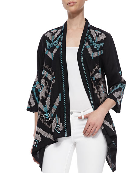 Aya Linen Draped Cardigan, Women's