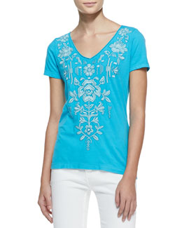 JWLA for Johnny Was Jacinta V-Neck Tee, Women's