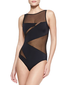OYE Swimwear Elizabeth Zigzag One-Piece Swimsuit