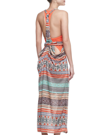 Inga Sleeveless Back-Draped Maxi Dress