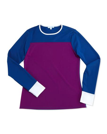 UPF 50 Boho Colorblock Long-Sleeve Swim Shirt