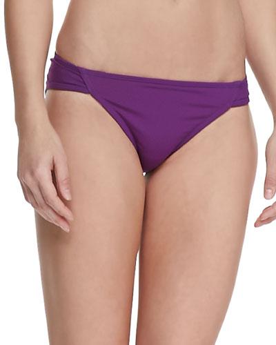 Parasol UPF 50 Boho Side-Ruched Bikini Bottom, Purple