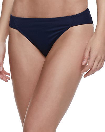 Parasol UPF 50 Classic Side-Ruched Bikini Bottom, Navy