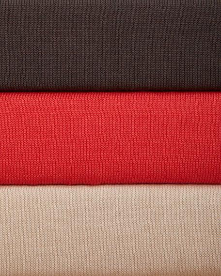 Silk-Cotton Cardigan with Drawstrings