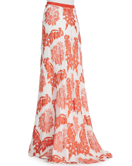 Marihany Chiffon Embroidered Maxi Skirt