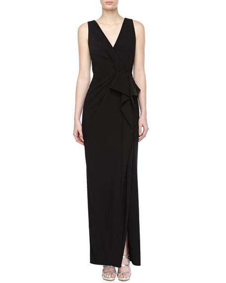Sleeveless Draped-Front Dress