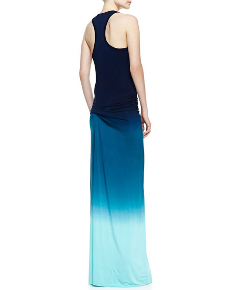 Hamptons Ombre Maxi Dress, Navy