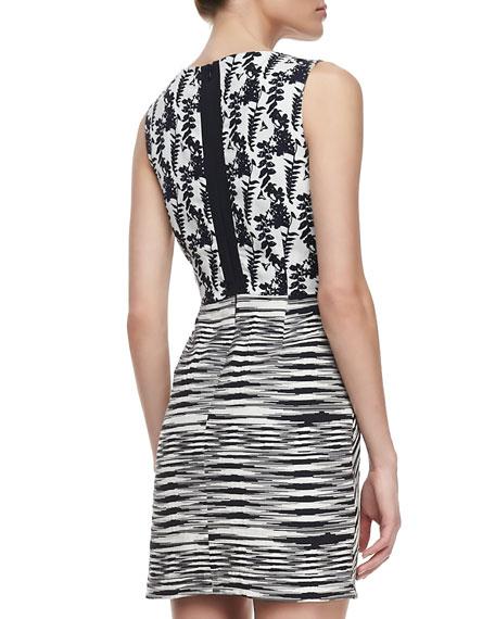 Helena Silk/Linen Cutout Dress