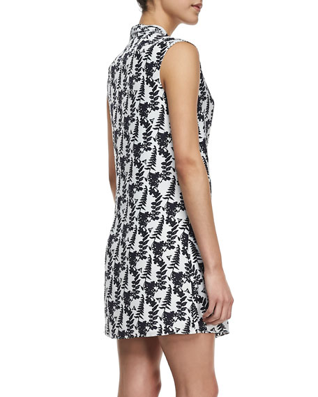 Printed Cap-Sleeve Dress